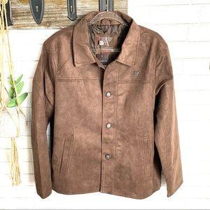 NWT A. Collezioni Italia Brown Jacket Size XL